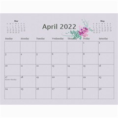 Pretty In Mauve 2018 (any Year) Calendar By Deborah   Wall Calendar 11  X 8 5  (12 Months)   G3eh9t30gsrw   Www Artscow Com Apr 2018