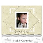 Damask Wedding 2015 Calendar  - Wall Calendar 11  x 8.5  (12-Months)