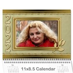 Formal elegant 2013 (any Year) Calendar - Wall Calendar 11 x 8.5 (12-Months)
