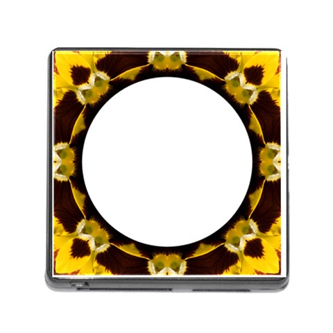 Memory Card Reader   Yellow Pansy By Joan T   Memory Card Reader (square)   8fr5g5v6drgg   Www Artscow Com Front