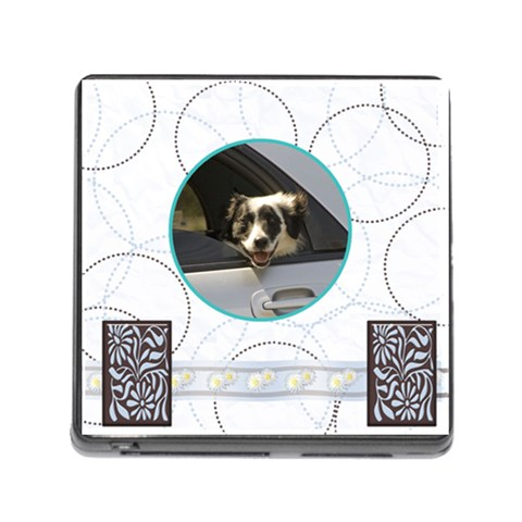 Memory Card Reader   White Daisies By Joan T   Memory Card Reader (square)   Bx4hrgeekfr7   Www Artscow Com Front