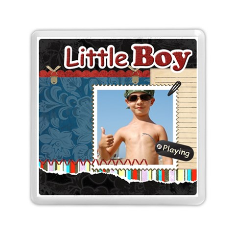 Little Boy By Joely   Memory Card Reader (square)   Xesb0wdo8p6w   Www Artscow Com Front