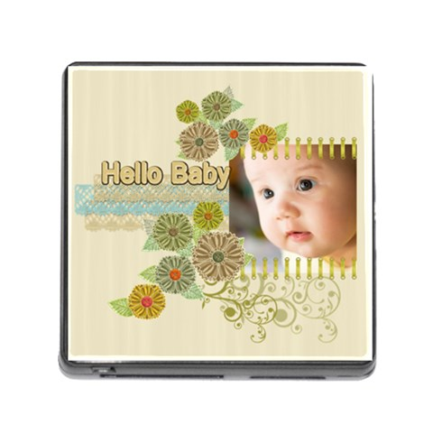 Baby Hello By Joely   Memory Card Reader (square)   Qi8z54zld8vo   Www Artscow Com Front