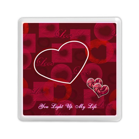 You Light Up My Life Pink Memory Card Reader By Ellan   Memory Card Reader (square)   Qzemn6mk9o5j   Www Artscow Com Front