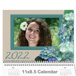 Hydranga delight 2017 (Any year) Calendar - Wall Calendar 11  x 8.5  (12-Months)