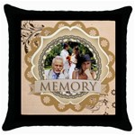 memory - Throw Pillow Case (Black)
