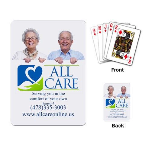 All Care Cards By Allen Freeman   Playing Cards Single Design   81oclktlgegr   Www Artscow Com Back