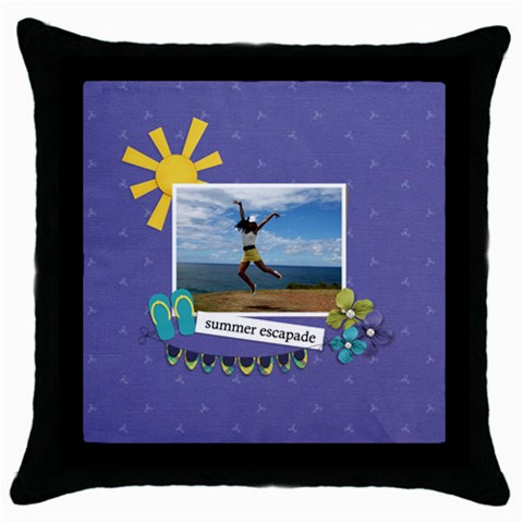 Throw Pillow  Summer Escapade By Jennyl   Throw Pillow Case (black)   Ts1oqyrobu3v   Www Artscow Com Front