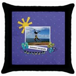 Throw Pillow- Summer Escapade - Throw Pillow Case (Black)
