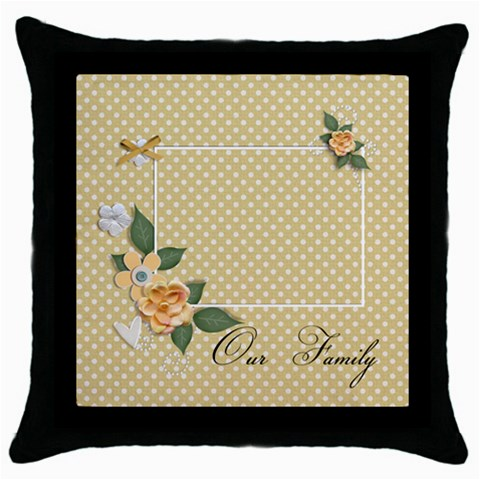 Throw Pillow   Our Family By Jennyl   Throw Pillow Case (black)   M2ep3sinlzqr   Www Artscow Com Front