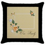 Throw Pillow - Our Family - Throw Pillow Case (Black)
