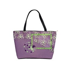 Lavender Essentials Classic Shoulder Handbag 1 By Lisa Minor   Classic Shoulder Handbag   Cxvv6r5nx61y   Www Artscow Com Front