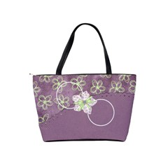 Lavender Essentials Classic Shoulder Handbag 1 By Lisa Minor   Classic Shoulder Handbag   Cxvv6r5nx61y   Www Artscow Com Back