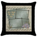 You Light Up My Life Neutral throw pillow case - Throw Pillow Case (Black)
