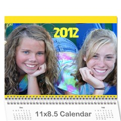 Calender (the Girls) By Sierra   Wall Calendar 11  X 8 5  (12 Months)   C4czan3kfe1y   Www Artscow Com Cover