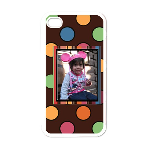 Colorful World Case By Blue Angel   Apple Iphone 4 Case (white)   Mviq7b6cxdmz   Www Artscow Com Front