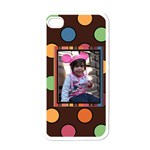 Colorful World Case - Apple iPhone 4 Case (White)