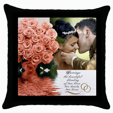 Apricot Wedding Throw Pillow By Deborah   Throw Pillow Case (black)   19n7wlfxkloa   Www Artscow Com Front
