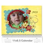 Floral 2015 Calendar-any theme, 12 month - Wall Calendar 11  x 8.5  (12-Months)