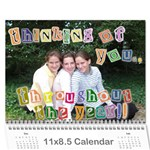 deena and yehudis - Wall Calendar 11  x 8.5  (12-Months)