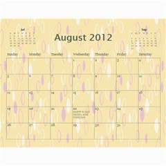 Deena And Yehudis By Renee   Wall Calendar 11  X 8 5  (12 Months)   Tr0e90hg6u0n   Www Artscow Com Aug 2012