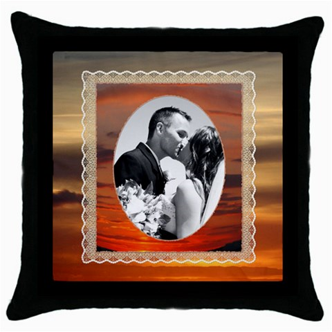 Sunset Throw Pillow By Lil    Throw Pillow Case (black)   84k0hr1pf6ao   Www Artscow Com Front
