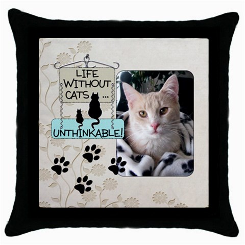 Cats Throw Pillow By Lil    Throw Pillow Case (black)   4amtqm6hvdsa   Www Artscow Com Front