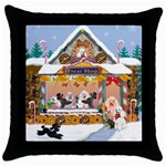 Poodle treat shop Throw Pillow Case (Black)