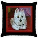Westie Throw Pillow Case (Black)