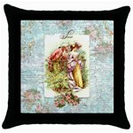 romantic couple in garden for pillow fini Throw Pillow Case (Black)