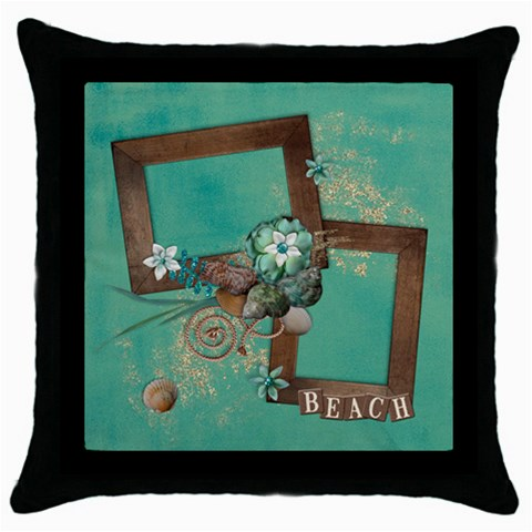 Beach/vacation/summer Pillow By Mikki   Throw Pillow Case (black)   Rknla5kz1b4a   Www Artscow Com Front