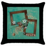BEACH/Vacation/summer Pillow - Throw Pillow Case (Black)