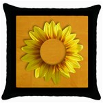 Sunflower frame- pillow (1side) - Throw Pillow Case (Black)