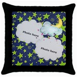 dreams pillow case - Throw Pillow Case (Black)