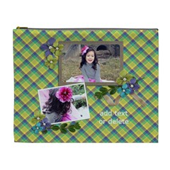 Cosmetic Bag (xl)  Summer Blooms2 By Jennyl   Cosmetic Bag (xl)   Q4hp1u10sgtn   Www Artscow Com Front