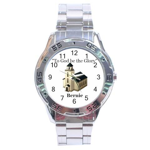 Watch For Phyllis For Bernie By Jean Guy Demeter   Stainless Steel Analogue Watch   99eg3w9hbws6   Www Artscow Com Front