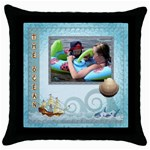 The Ocean Throw Pillow - Throw Pillow Case (Black)