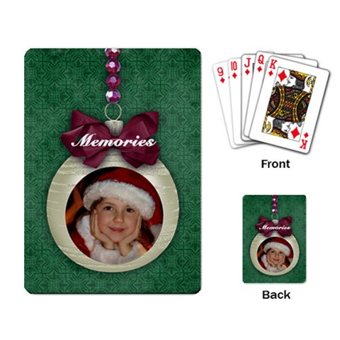 Christmas Ornament Playing Cards By Mikki   Playing Cards Single Design   Fbdw9lus5ly3   Www Artscow Com Back