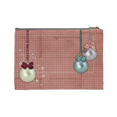 Christmas Ornaments/holiday/kids Cosmetic Bag (large)  By Mikki   Cosmetic Bag (large)   E71detgwq0m5   Www Artscow Com Back