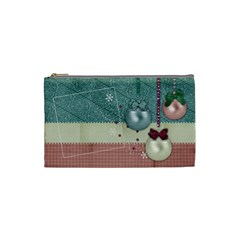 Christmas Ornaments/holiday/kids Cosmetic Bag (s)  By Mikki   Cosmetic Bag (small)   E9vxc0ny75i8   Www Artscow Com Front