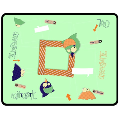Monsters/boys  Fleece Blanket (m) By Mikki   Fleece Blanket (medium)   14q5vwshy0q6   Www Artscow Com 60 x50 Blanket Front