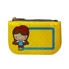 Girl 1/school Mini Coin Purse By Mikki   Mini Coin Purse   Df7cn0a15q3q   Www Artscow Com Front