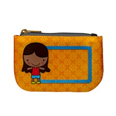 Girl 3/school Mini Coin Purse By Mikki   Mini Coin Purse   C8fvuvh9nrku   Www Artscow Com Front