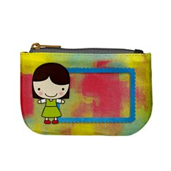 Girl 4/school Mini Coin Purse By Mikki   Mini Coin Purse   Djl0bwaohvsq   Www Artscow Com Front