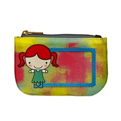 Girl 5/school Mini Coin Purse By Mikki   Mini Coin Purse   Aunwishoyawx   Www Artscow Com Front