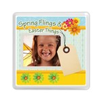 happy spring  - Memory Card Reader (Square)