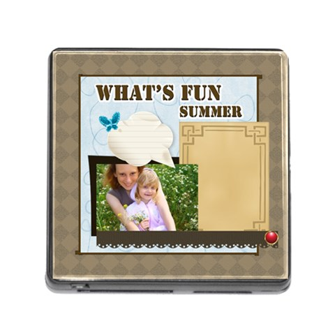What s Fun Of Summer By Joely   Memory Card Reader (square)   162l1a2hgycd   Www Artscow Com Front
