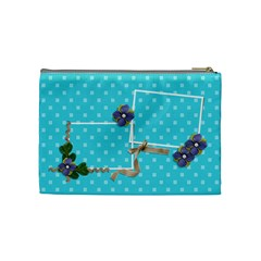 Cosmetic Bag (medium)  Ribbon And Flowers By Jennyl   Cosmetic Bag (medium)   49hb8v02kyb7   Www Artscow Com Back