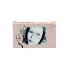 Cherry Blossom Makeup Bag By Rubyjanedesigns Front