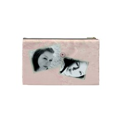 Cherry Blossom Makeup Bag By Rubyjanedesigns   Cosmetic Bag (small)   5f1b5vo6b4ih   Www Artscow Com Back